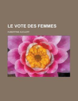 Le Vote Des Femmes