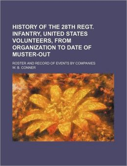 History of the 28th Regt. Infantry, United States Volunteers, from Organization to Date of Muster-Out; Roster and Record of Events by Companies