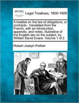 A Treatise On The Law Of Obligations, Or Contracts