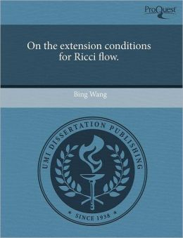 On The Extension Conditions For Ricci Flow.