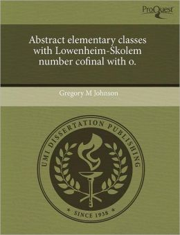 Abstract Elementary Classes With Lowenheim-Skolem Number Cofinal With O.