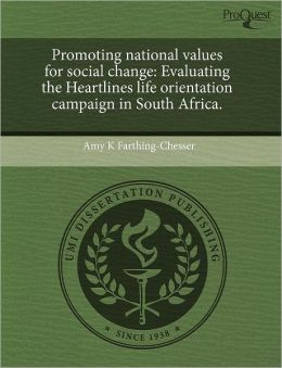 Promoting National Values For Social Change