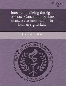 Internationalizing The Right To Know