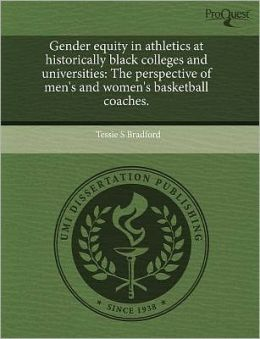 Gender Equity In Athletics At Historically Black Colleges And Universities