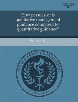 How Persuasive Is Qualitative Management Guidance Compared To Quantitative Guidance?