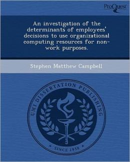 An investigation of the determinants of employees' decisions to use organizational computing resources for non-work purposes.