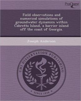 Field observations and numerical simulations of groundwater dynamics within Cabretta Island, a barrier island off the coast of Georgia.