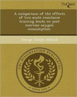 A comparison of the effects of two acute resistance training bouts on post exercise oxygen consumption.