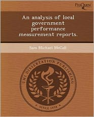 An analysis of local government performance measurement reports.