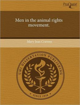 Men In The Animal Rights Movement.