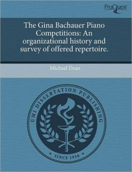 The Gina Bachauer Piano Competitions