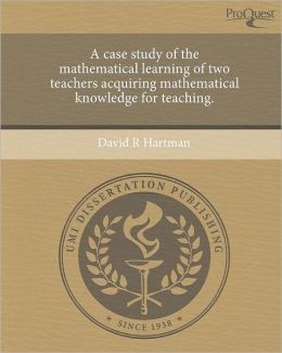 A case study of the mathematical learning of two teachers acquiring mathematical knowledge for teaching.