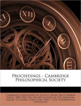 Proceedings - Cambridge Philosophical Society Volume 10