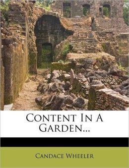 Content In A Garden...