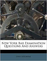 New York Bar Examination Questions And Answers