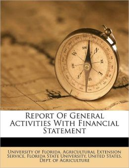 Report Of General Activities With Financial Statement