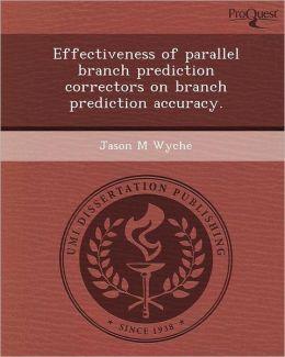 Effectiveness of parallel branch prediction correctors on branch prediction accuracy.