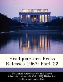 Headquarters Press Releases 1963: Part 22