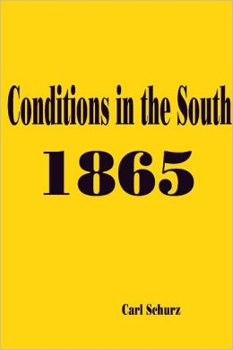 Conditions In the South: 1865