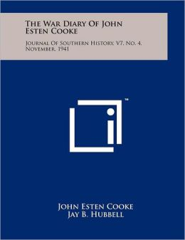 The War Diary Of John Esten Cooke