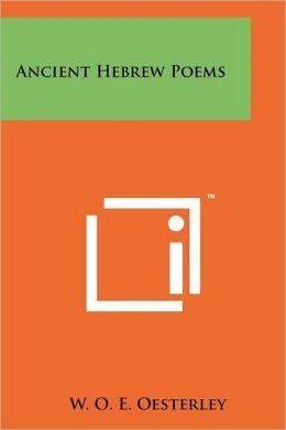 Ancient Hebrew Poems