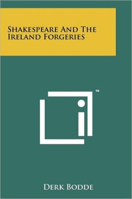 Shakespeare and the Ireland Forgeries
