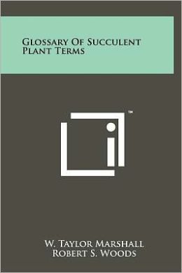 Glossary Of Succulent Plant Terms