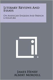Literary Reviews And Essays