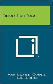 Defoe's First Poem