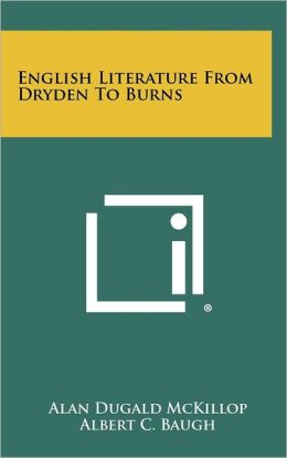 English Literature From Dryden To Burns