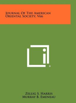 Journal of the American Oriental Society, V66