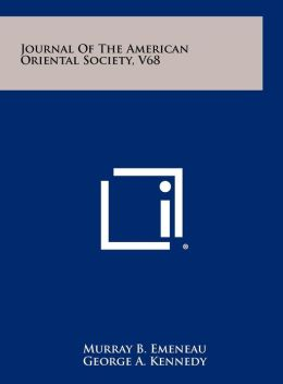 Journal of the American Oriental Society, V68