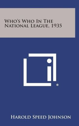Who's Who in the National League, 1935