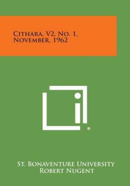 Cithara, V2, No. 1, November, 1962