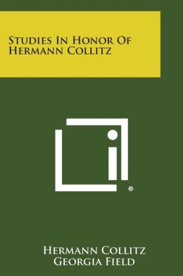 Studies in Honor of Hermann Collitz