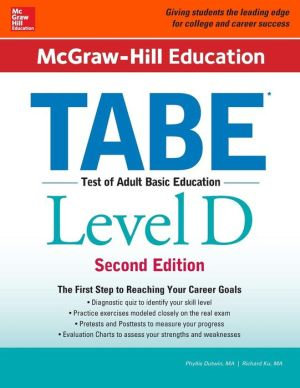 McGraw-Hill Education TABE Level D, 2nd Edition