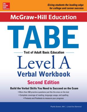 McGraw-Hill Education TABE Level A Verbal Workbook