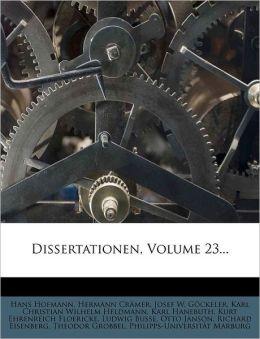 Dissertationen, Volume 23...
