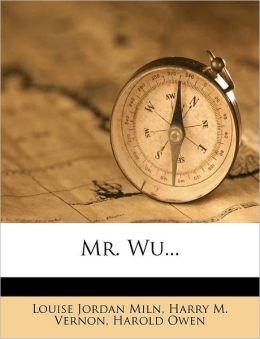 Mr. Wu...