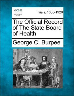 The Official Record of The State Board of Health