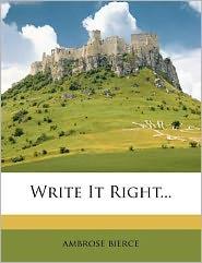 Write It Right...