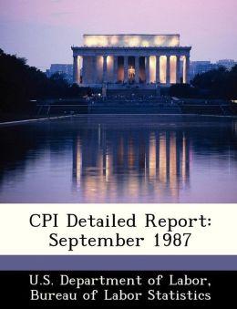 CPI Detailed Report: September 1987