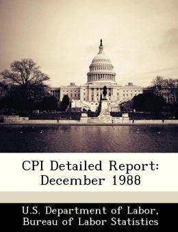 CPI Detailed Report: December 1988