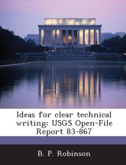 Ideas for clear technical writing: USGS Open-File Report 83-867