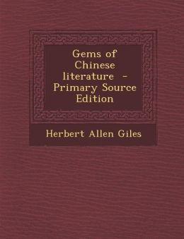Gems of Chinese Literature