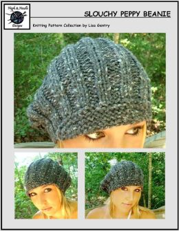 Slouchy Peppy Beanie Hat - Knitting Pattern