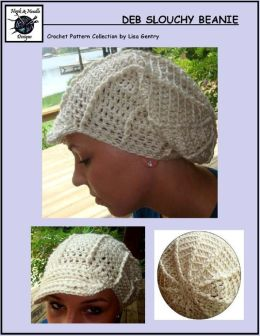 Deb Slouchy Beanie - Crochet Pattern for Hat