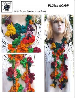 Flora Scarf - Crochet Pattern for Flower Scarf