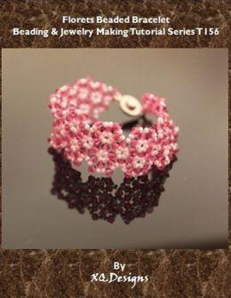 Florets Beaded Bracelet: Beading & Jewelry Making Tutorial Series T156