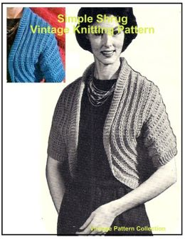 Simple Shrug - Vintage Knitting Pattern
